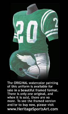 Philadelphia Eagles 1967 uniform