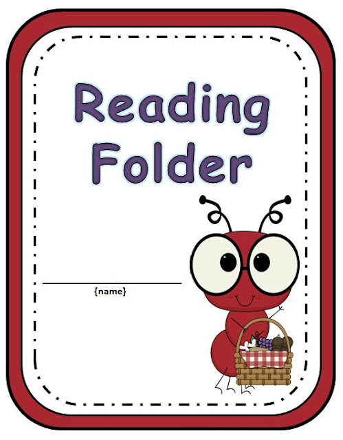 Your students will love getting organized with this adorable Ant Reading Folder.