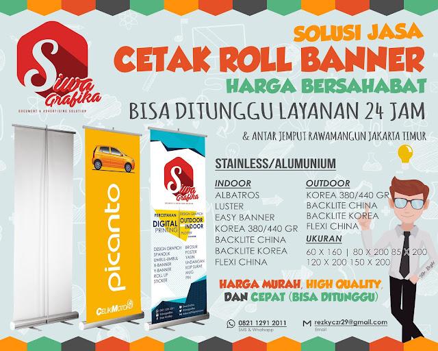 cetak roll banner murah