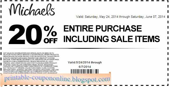 Michaels online printable coupons
