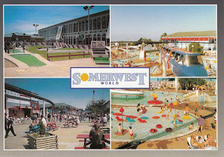 A Butlin's Holidays postcard of Somerwest World. Postally unused. Undated