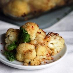 Cauliflower roasted vegetarian asian