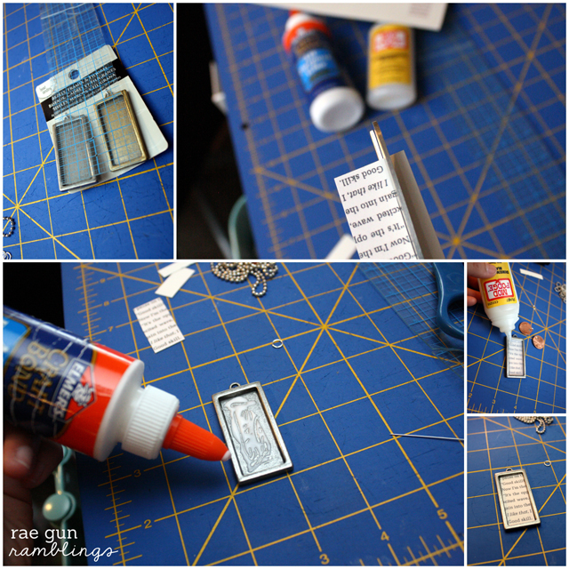 How to make a book page pendant. Easy to follow tutorial.