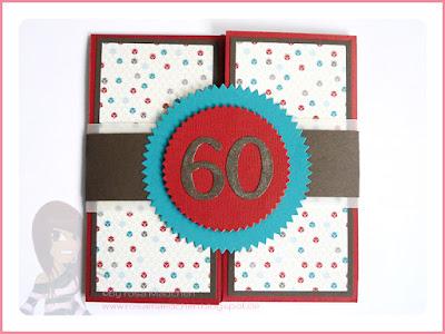 Stampin' Up! rosa Mädchen Kulmbach: XXL Klappkarte zum 60. Geburtstag mit Dein Tag