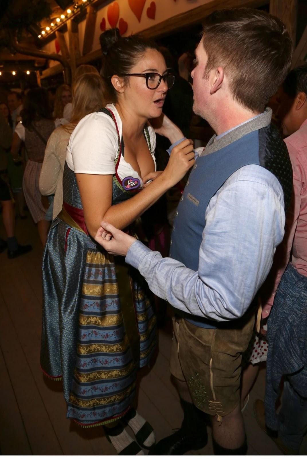 Shailene Woodley at Kaefer Tent for Oktoberfest