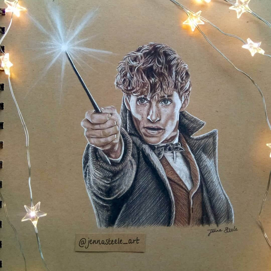 12-Fantastic-Beasts-Jenna-Steele-Collection-of-Pencil-Drawings-www-designstack-co