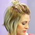 Easy Medium Hair styles For Women - The Half Up Messy Bun Tutorial