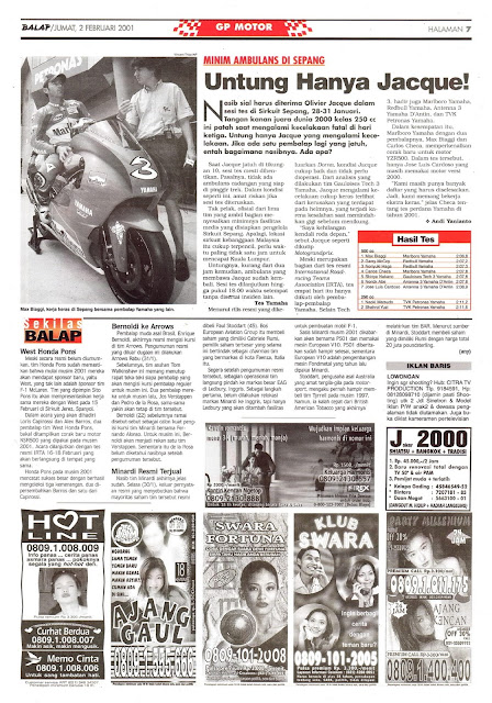 BALAP GP MOTOR MINIM AMBULAN DI SEPANG