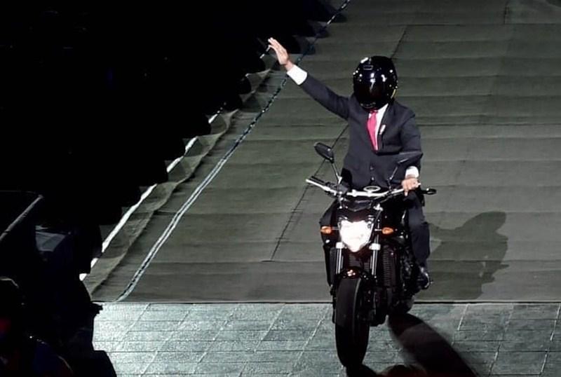 Yamaha FZ1 Presiden Jokowi - Instagram
