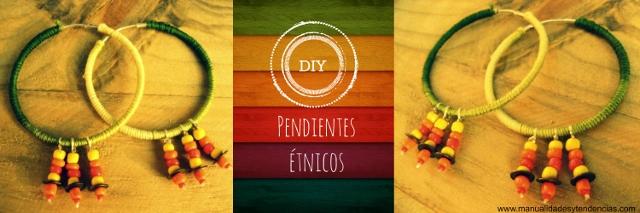 DIY Pendientes étnicos / Ethnic hoop earings / Boucles d