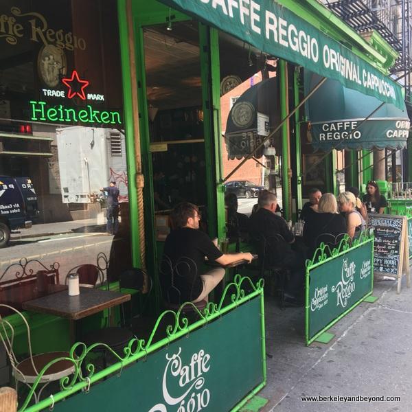 exterior of Caffe Reggio in NYC