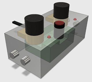 planned box layout for the custom dew heater controller
