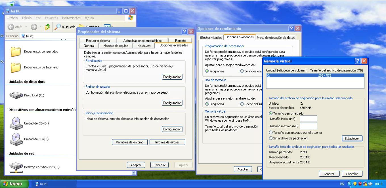 Aumentar memoria RAM en XP
