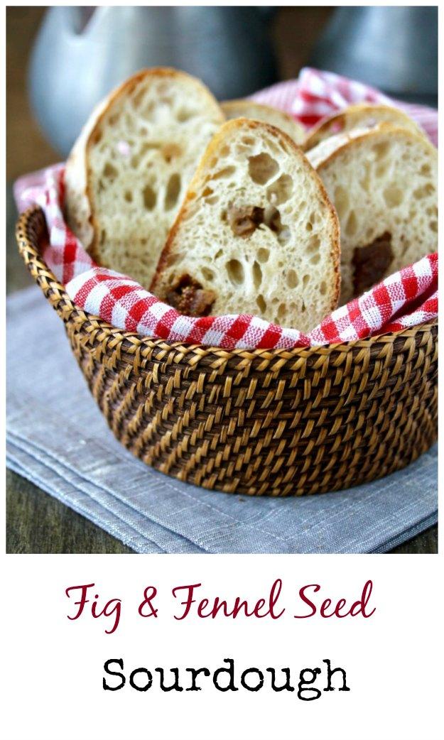 Dried Fig and Fennel Sourdough Bread #bread #sourdough