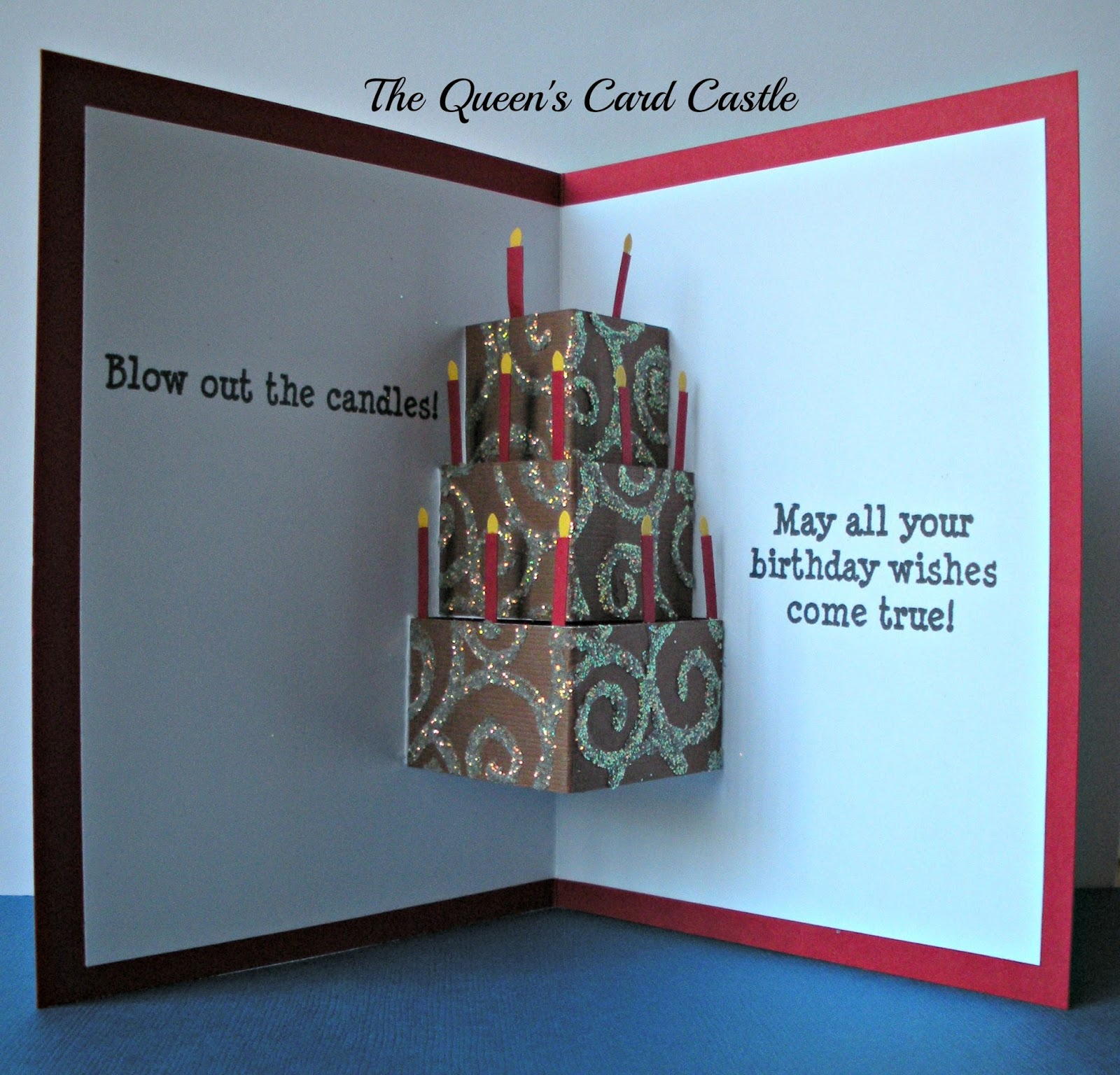 the queen's card castle birthday card