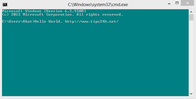 Thay đổi màu nền trong Windows Command Prompt
