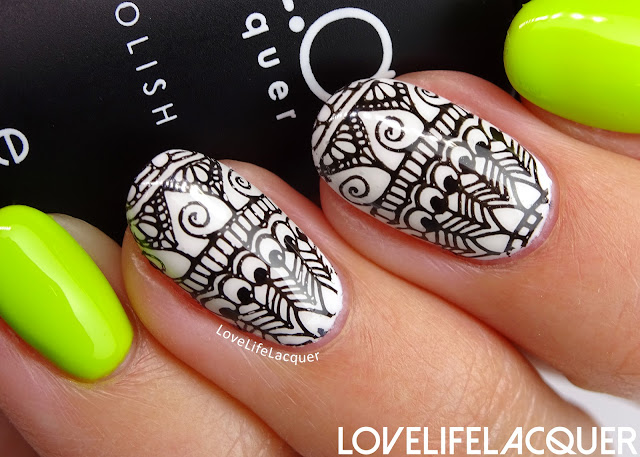 Bundle Monster Black White stamping