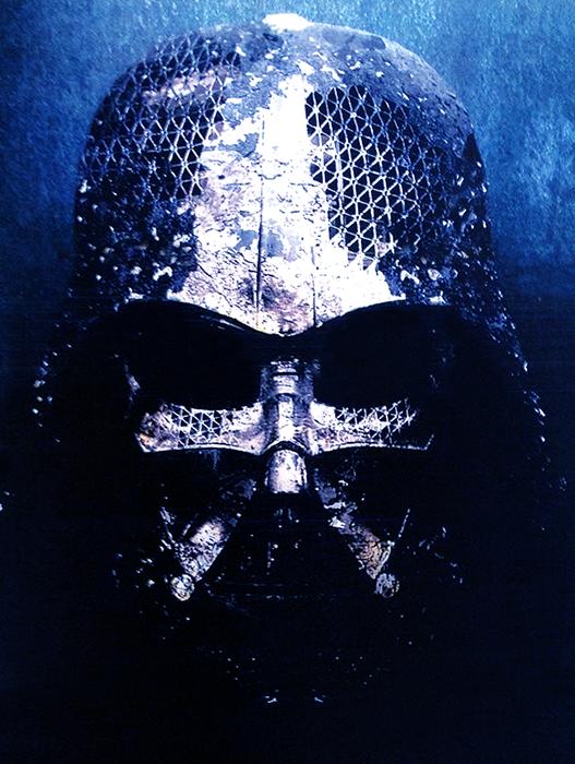 Casca arsă a lui Darth Vader