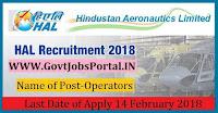 Hindustan Aeronautics Limited Recruitment 2018– 131 Operators
