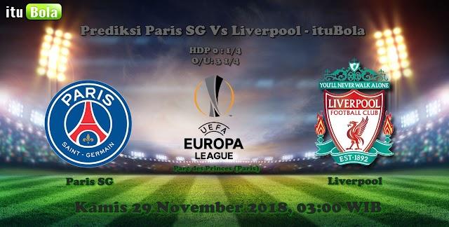 Prediksi Paris SG Vs Liverpool - ituBola