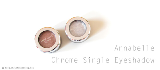 Check out Annabelle Cosmetics Fall 2017 Collection Haul Chrome Single Eyeshadow Silver Rose Gold
