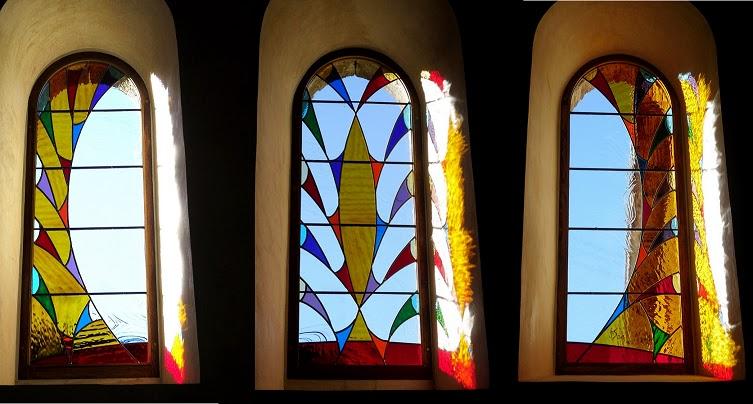 vitrail, verres de couleur montés en plomb