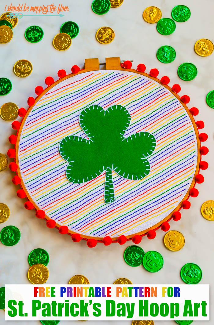 St. Patrick's Day Hoop Art
