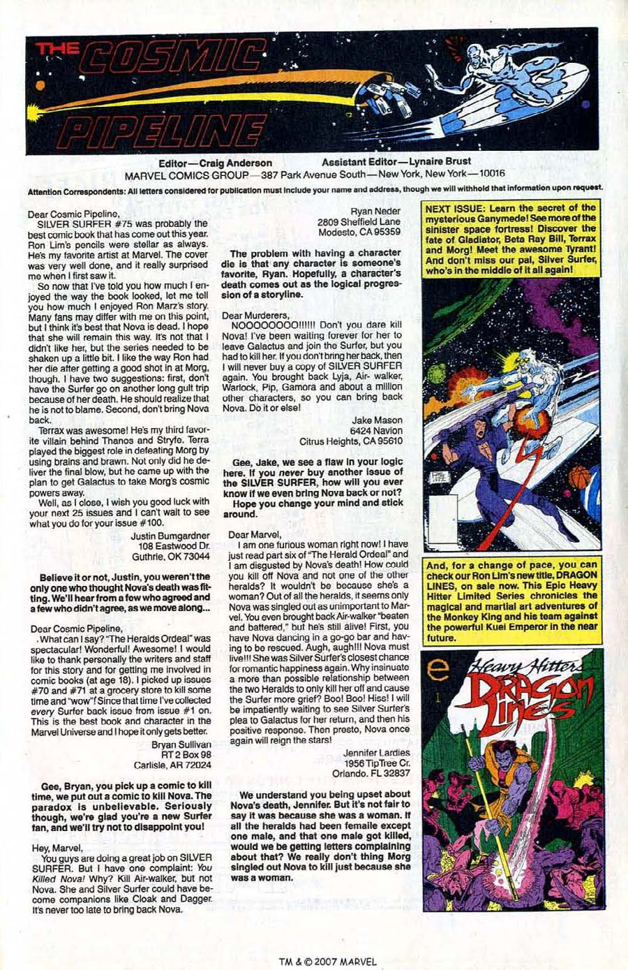 Read online Silver Surfer (1987) comic -  Issue #80 - 33