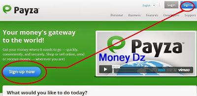 التسجيل في بنك بايزا PAYZA, بالصور خطوات التسجيل في بنك بايزا PAYZA, wppit