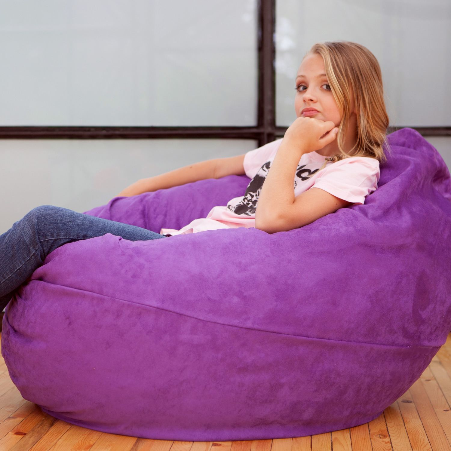 Jaxx Bean Bag Chairs Rattan Dining Chair Comfy If Stood On End And Squished Toward The 4 Foot Cocoon Will Become More Of A Pod That Enfold Child In Lovely Embrace