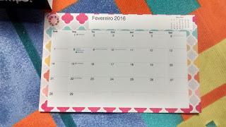 Calendário de mesa DIY