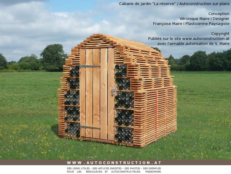 VERONIQUE-MAIRE-DESIGNER-FRANCOISE-MAIRE-PLASTICIENNE-PAYSAGISTE - plan de cabane de jardin
