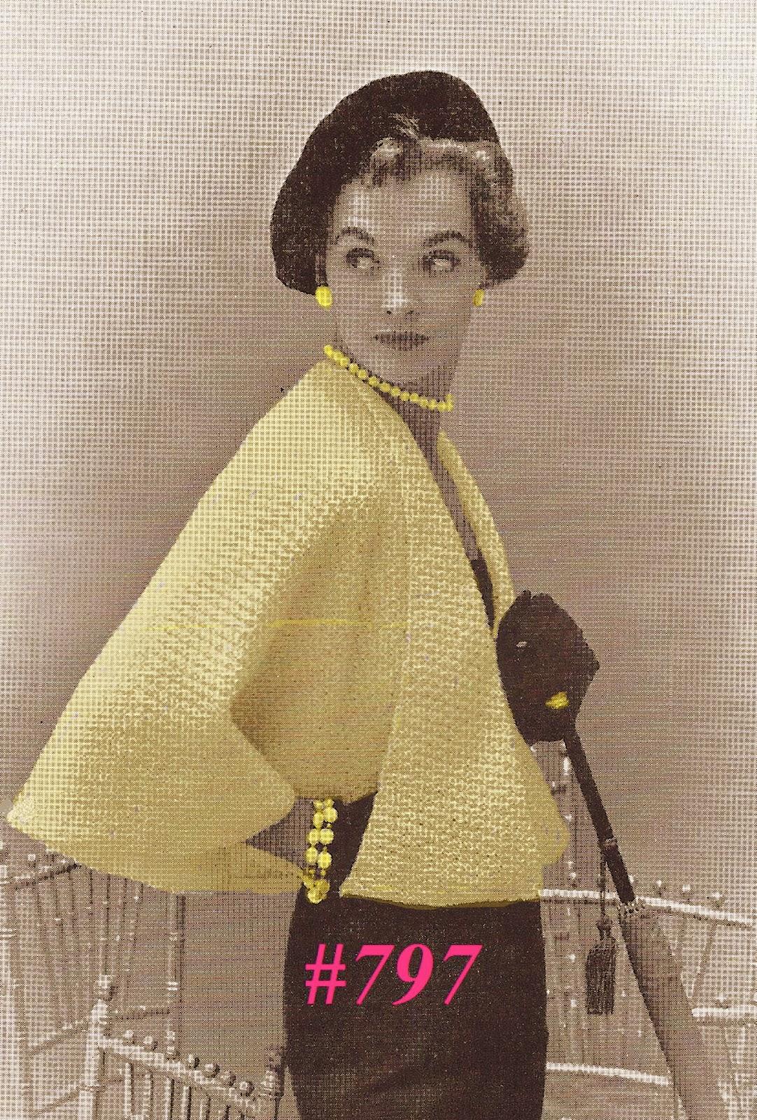 Free Vintage Crochet Cape Patterns : Miss Julias Patterns: Cozy Capes to Knit - Crochet & Free ...
