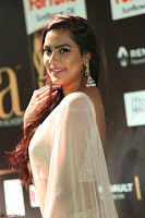 Prajna Actress in backless Cream Choli and transparent saree at IIFA Utsavam Awards 2017 0059.JPG