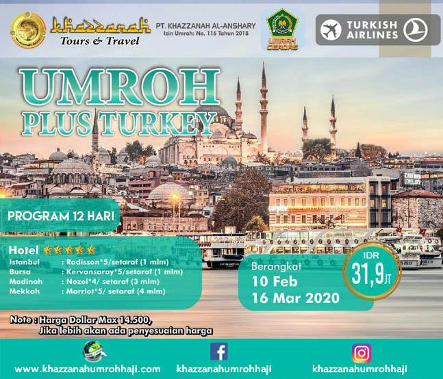 jadwal Paket Umroh Maret 2020 Program Plus Turki