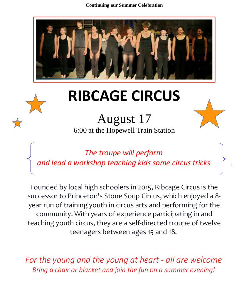 HPL: 2016-Aug-17 Wed 6:00p:               Ribcage Circus