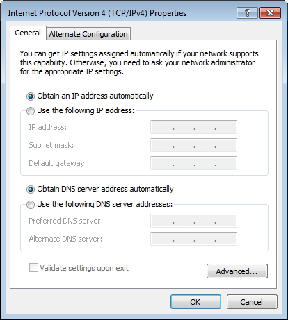 setting ip address wireless otomatis