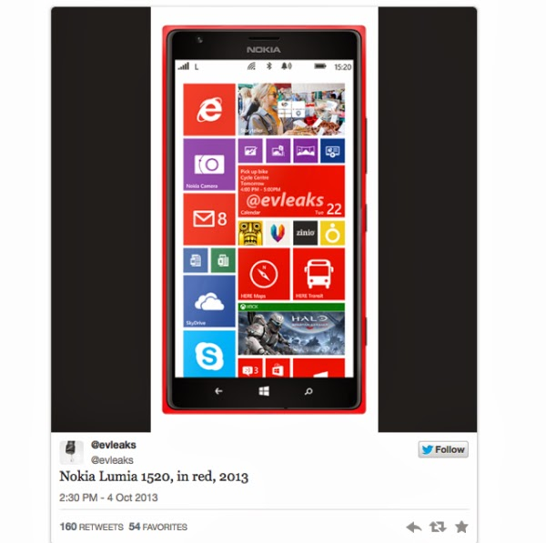 What does the Nokia Lumia 1520 offer?