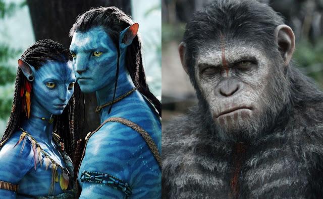 Avatar e Planeta dos Macacos da Fox