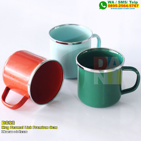 Mug Enamel List Premium 9cm