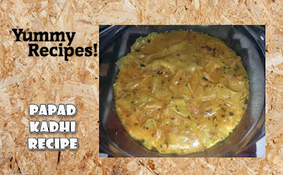 Yummy Papad Kadhi Recipe - How To Make Papad Kadhi