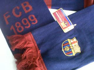 Logo Barcelona bordir dan FCB 1899 rajut