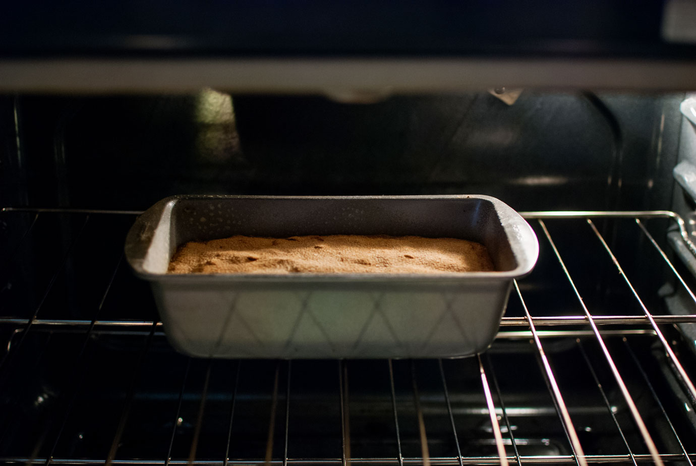 Bake The Banana Bread With Chocolate Chips At 350 For Around One Hour