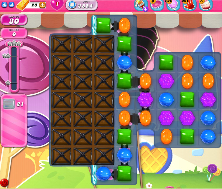 Candy Crush Saga level 2554