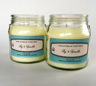 Purity Belle Upcycled Fig & Vanilla Soy Candle