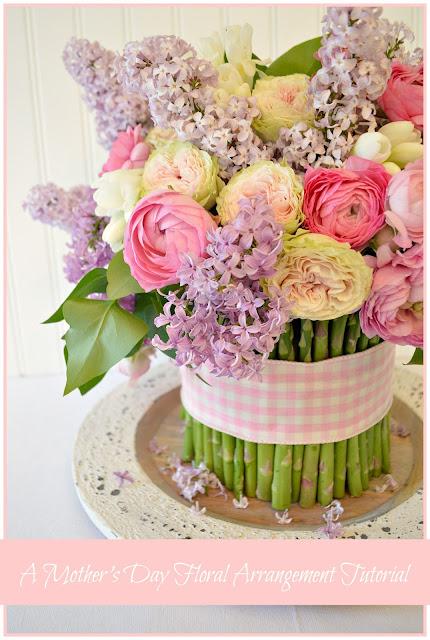 A spring floral arrangement tutorial