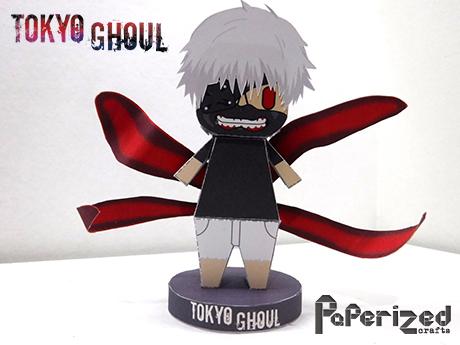 Tokyo Ghoul Ken Kaneki Papercraft