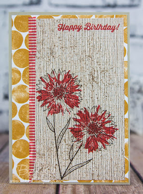 Touches of Texture Flowers Stamped Straight Onto Patterned Paper