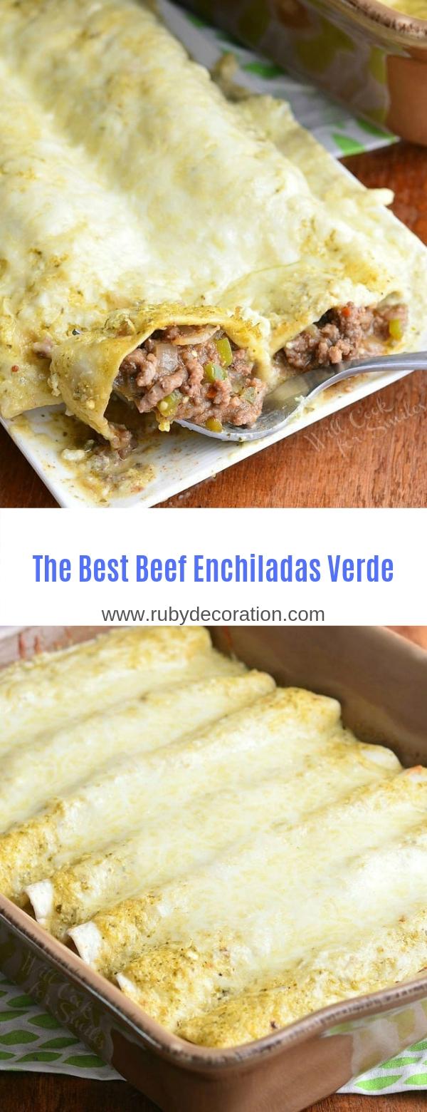 The Best Beef Enchiladas Verde