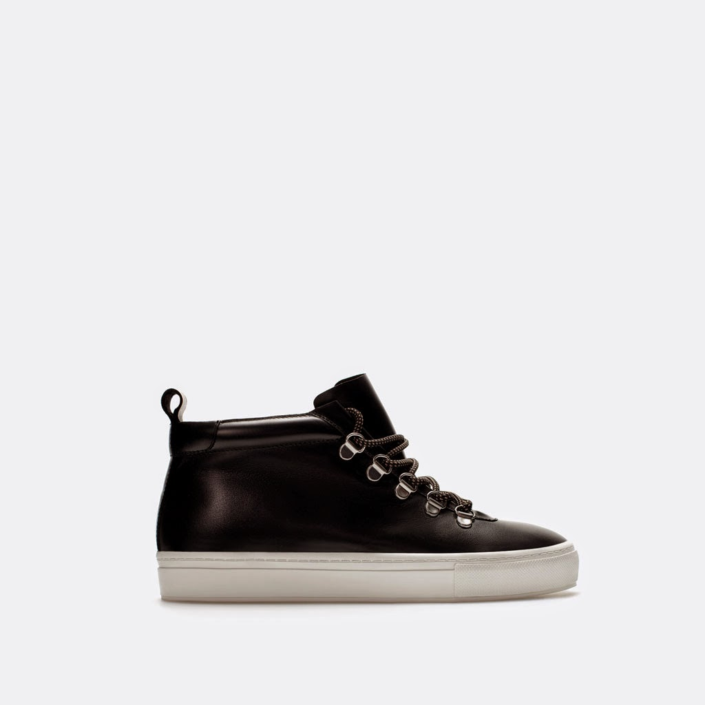 Botín deportivo piel de Zara  sport leather booties calzado